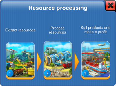 Resource Processing in Megapolis