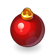 Asset Red Christmas Tree Bauble