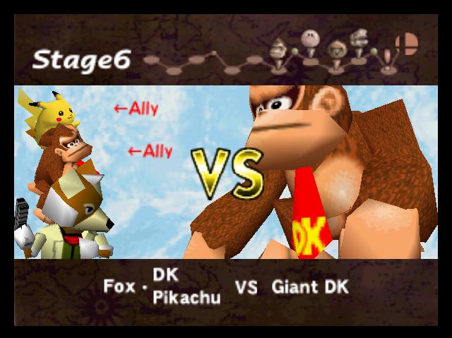 File:VS Screen (Fox & Donkey Kong & Pikachu VS Giant Donkey Kong).png