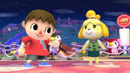 Villager and Isabelle