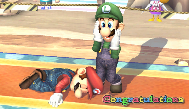 File:Luigi Congratulations Screen Classic Mode Brawl.png