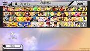 SSB WIIU starting roster