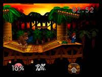 Congo Jungle SSB - Mario + DK Fight