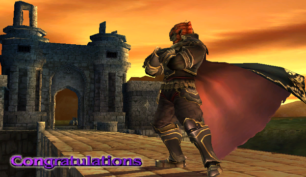 File:Ganondorf Congratulations Screen Classic Mode Brawl.png