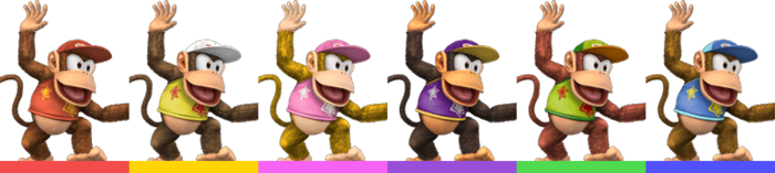Diddy Kong Palette (SSBB)