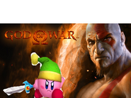 Kirby meets Kratos