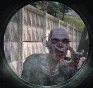 Zombie through scope