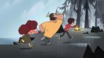 S1E6 Diazes run toward the campfire