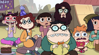 S2E29 Party guests watching Preston Change-O