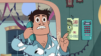 S3E1 Rafael about to call the Teen Sadness Hotline