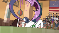 S1E5 Monster arm makes Marco hit himself