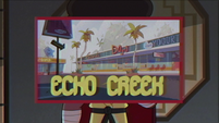 S2E37 Image of Echo Creek mini-mall appears on video