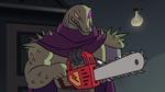S2E18 Rasticore has trouble starting his chainsaw