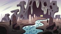 Interdimensional Field Trip background - Yarn monster's den