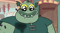 S2E11 Buff Frog smiling proud of Katrina