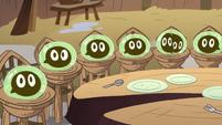 S2E12 Tadpoles looking at Buff Frog 1