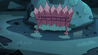 S3E5 Wood spike trap outside Buff Frog's house