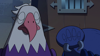S2E35 Bald eagle and giant spider shake their heads