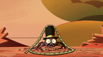 S2E22 Spider With a Top Hat with beanbag's zipper on him
