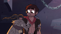 S2E31 Adult Marco petting Nachos the dragoncycle