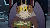 S2E41 Chancellor Lekmet holding the book of spells