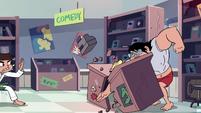 S2E4 Store clerk karate-chops his desk in half