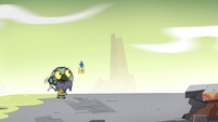 S2E35 Ludo and Glossaryck walking together