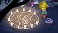 S2E27 Janna makes a summoning circle on the ground