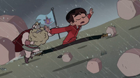 S2E15 Marco Diaz leaps over rolling boulders