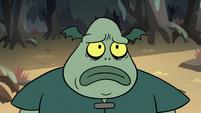 S2E12 Buff Frog looking sad