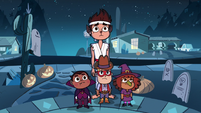 S2E21 Marco Diaz standing with three little kids
