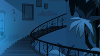 Sleep Spells background - Diaz household stairs night