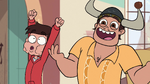 S1E6 Marco and Mr. Diaz excited