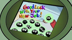 S2E12 Buff Frog receives a photo of his tadpoles