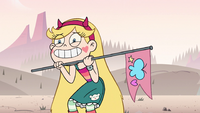 S2E15 Star Butterfly excited to play Flags