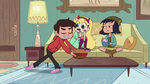 S2E18 Marco gracefully sets the nacho bowl down