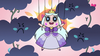 S2E40 Princess Moon puppet surrounded by angry clouds
