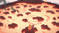 S2E15 Star Butterfly reaches the lava zone
