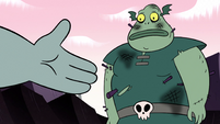 S2E12 Dogbull extends a handshake to Buff Frog