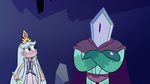 S3E2 Queen Moon looking at Rhombulus