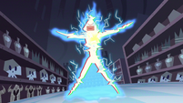 S2E18 Gift card gets hit by Shooting Star Explosion