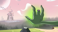S3E3 Ludo's wand hand points at Butterfly Castle