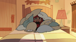 S2E26 Marco Diaz hiding under pile of pillows