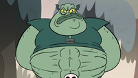 S2E12 Buff Frog revealing his abs