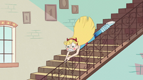 S2E11 Star Butterfly sliding down the stair rail