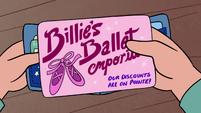S2E18 Billie's Ballet Shoe Emporium business card