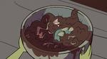 S2E8 Ludo holding a bowl of mud