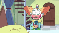 S1E7 Marco dressed as a clown