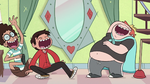 S1E12 Marco, Ferguson, and Alfonzo laughing together