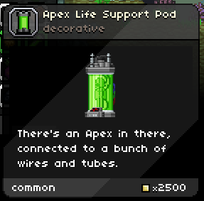 Apex life support pod